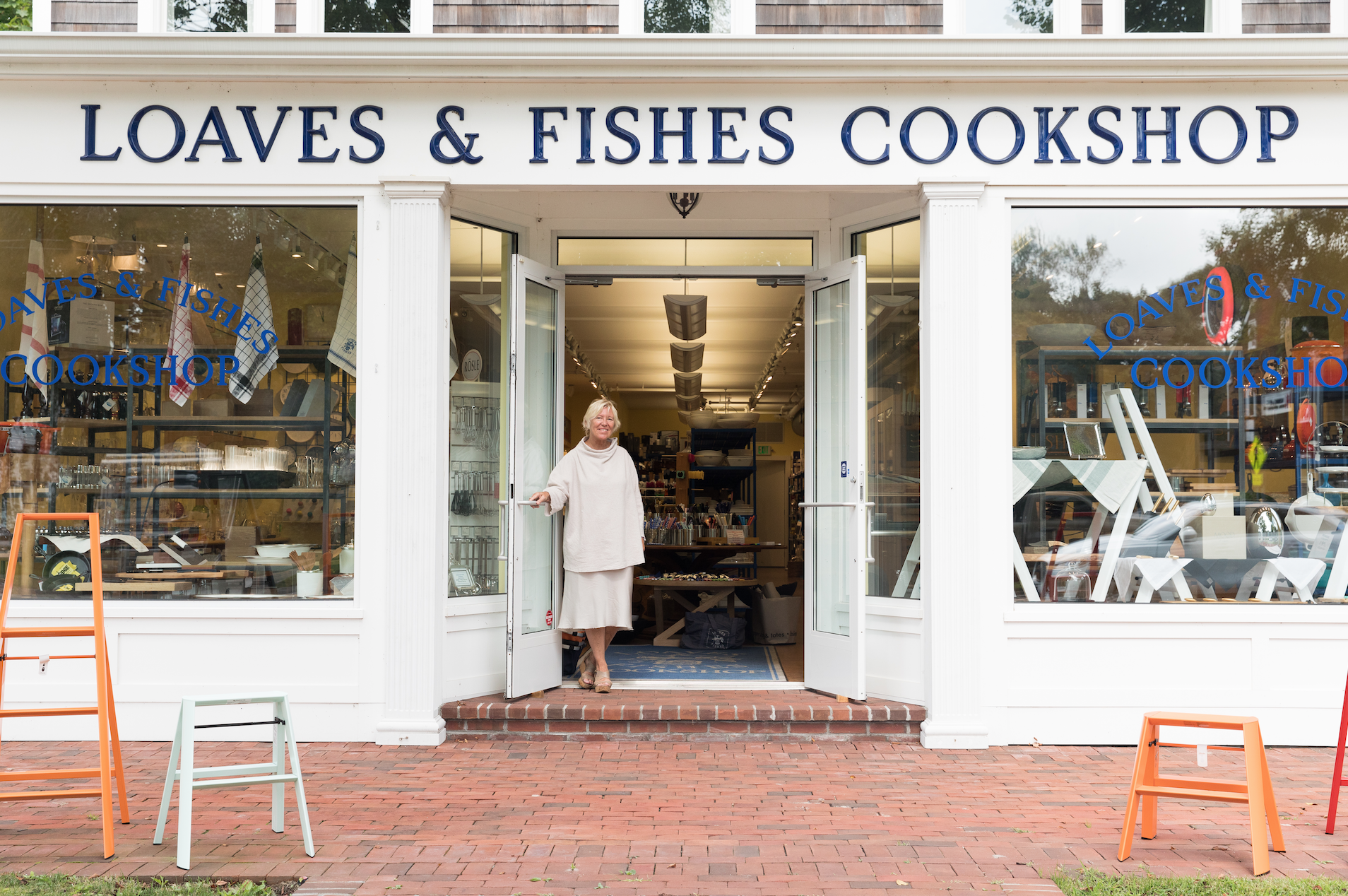 Sybille van Kempen in front of Loaves and Fishes